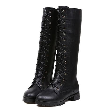 Dress boots knee high short ankle boots black boots wedge lace up