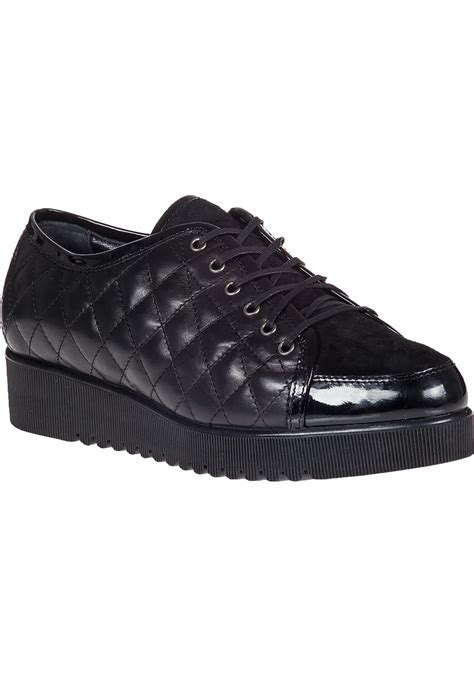 black platform sneakers lyst aquatalia platform sneaker black leather