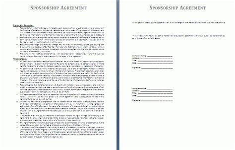 10 Sponsorship Agreement Templates Word Excel Pdf Templates Sponsorship Contract Template Word