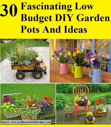 Low Budget Garden Ideas 30 Fascinating Low Budget Diy Garden Pots And Ideas Home And Tips