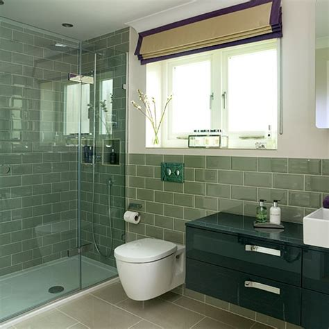 sage green tiled bathroom decorating housetohomecouk