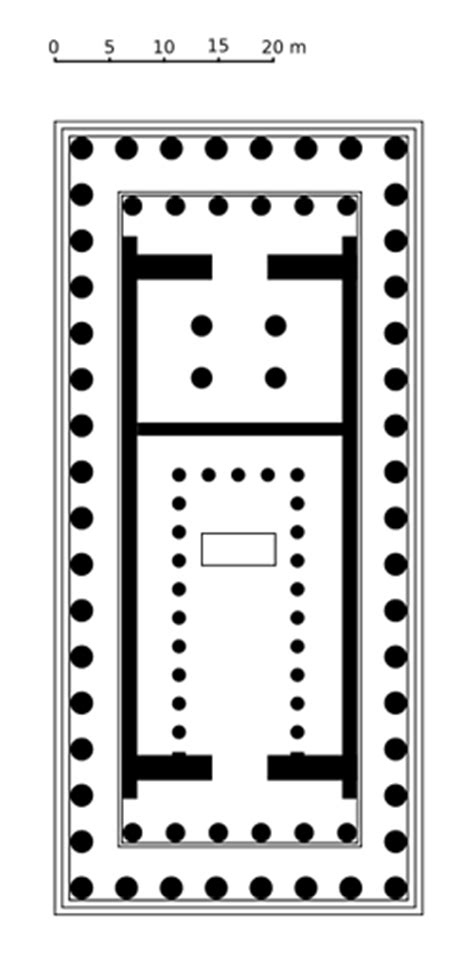 floor plan of parthenon doric columns in famous buildings