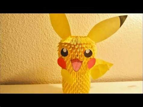 How To Make A 3d Origami Pikachu - pikachu 3d origami tutorial