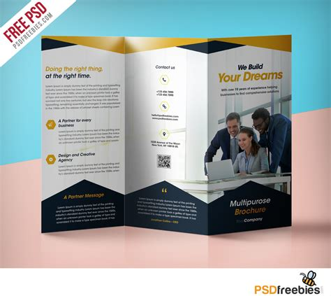 tri fold brochure template design business tri fold brochure templates free templates