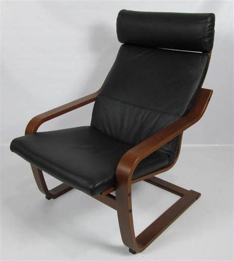 ikea black leather chair ikea poang black leather dark brown chair 400 239 43