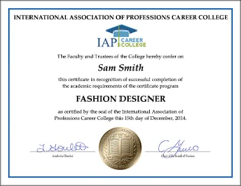 fashion design degree from home fashion designer certificate course online