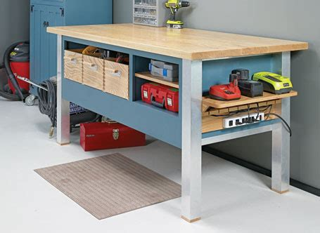 power tool bench modern power tool bench woodsmith plans