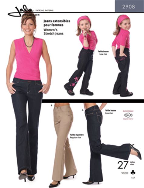 bootcut jeans sewing pattern jalie 2908 women s stretch jeans