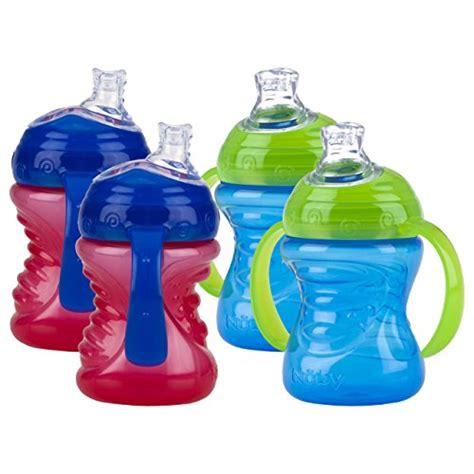 Nuby 360 Grip N Sip 2 In 1 Combo Spout Straw Sippy Cup 240ml 57 from usa nuby 2 pack no spill spout grip n sip cup and blue b00in8oi4a free shipping