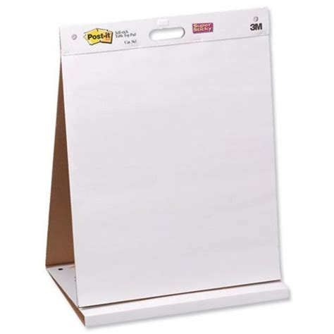 How To Make A Flip Chart With Paper - 3m post it portable table flip chart stand presentation
