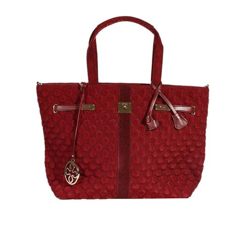 Quilted Bag by V73 Handbag Quilted Bag Shopping In Burgundy