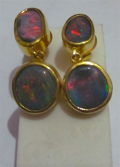Handmade Opal Jewelry - opal earings black opal earings opal earings and