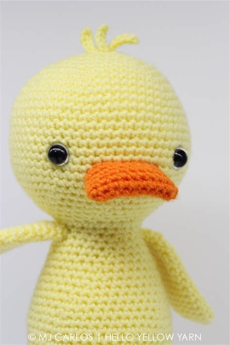 crochet pattern for yellow duck quigley the duck amigurumi pattern amigurumipatterns net