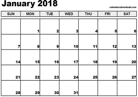 printable january 2018 calendar pdf printable calendar january 2018 pdf journalingsage com