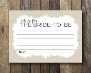 advice to the cards items similar to advice for the cards instant bridal shower advice card