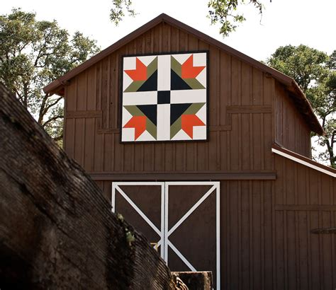 Barn Quilt by Through Porch Window A About Decorating
