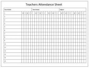 Free Attendance Sheet Template For Teachers attendance sheet template microsoft office templates