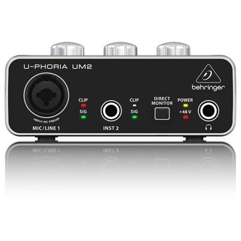 Behringer Audio Interface behringer u phoria um2 usb audio interface at gear4music
