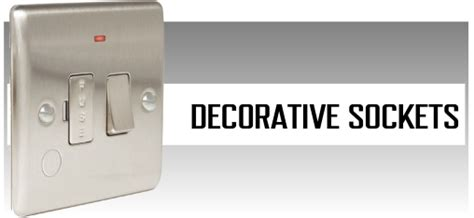 Decorative Sockets by Electramania Homepage Electrical Supplies