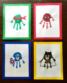 Amazing Superhero Handprint Crafts For Kids Crafty Morning