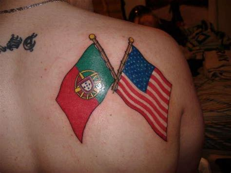 portuguese cross tattoos 10 amazing two flag tattoos