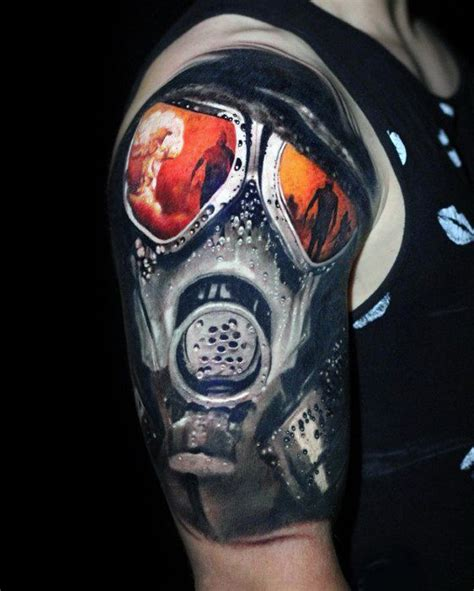 gas mask tattoo 30 cloud designs for atomic ink ideas