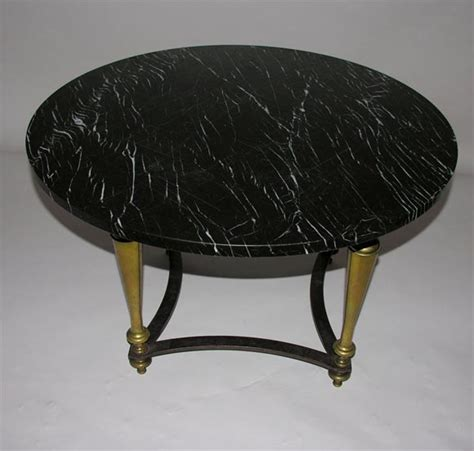 black marble coffee tables brass coffee table with black marble top at 1stdibs