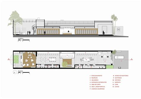 what is section plan gallery of feed meat market fgmf arquitetos projeto de
