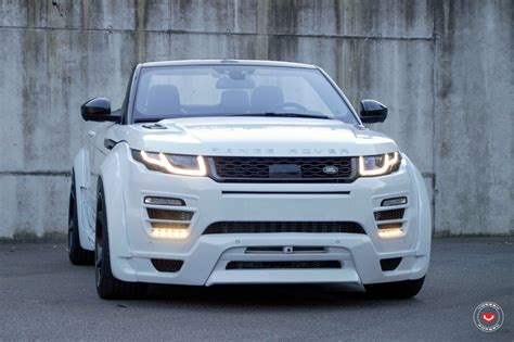 drop top range rover evoque   wide body kit