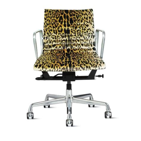 Leopard Office Chair - eames management office chair in scalamandre leopard