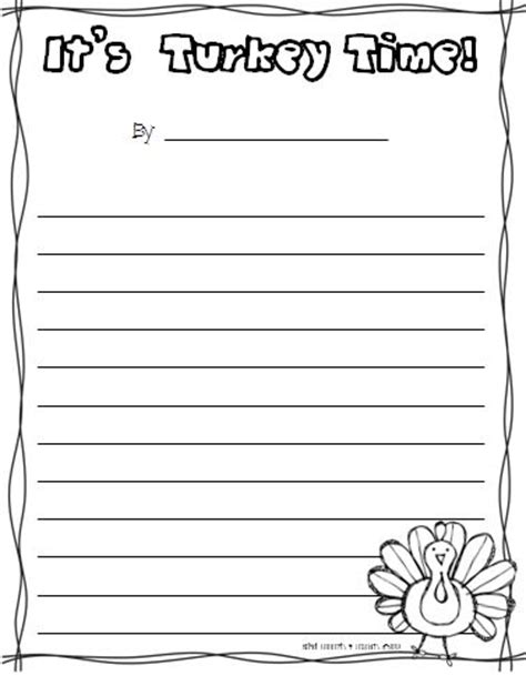 turkey writing paper turkey writing template