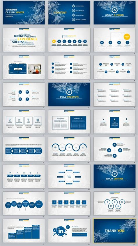 27 Blue Business Report Professional Powerpoint Templates Powerpoint Templates For 2018 Professional Templates For Powerpoint