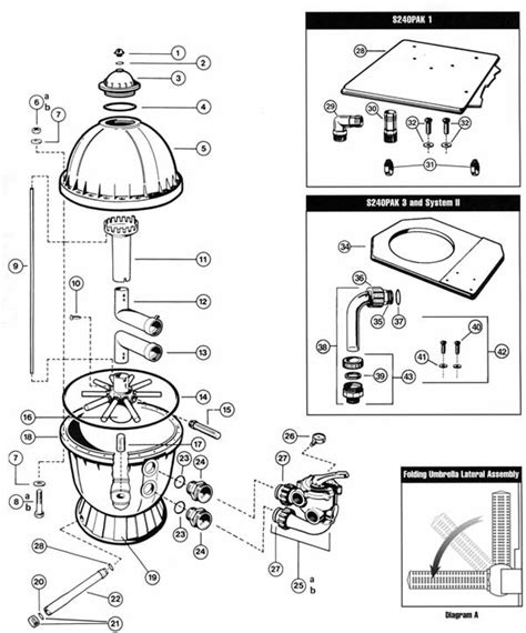 sand filter parts diagram mypool hayward s240 sand filter parts list