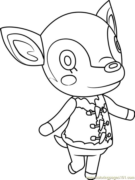 fauna animal crossing coloring page  animal crossing coloring pages coloringpagescom