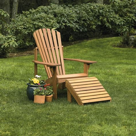 adirondack chair and ottoman adirondack chair and ottoman eucalyptus wood gardener