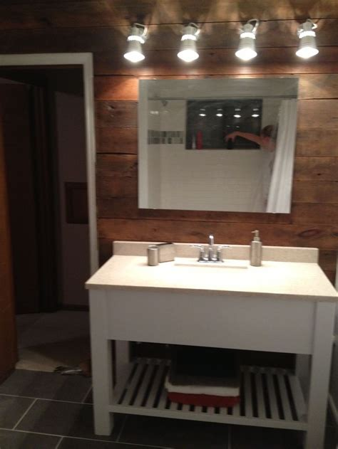 home bath vanity lights bath vanity barn wood wall ikea lights white modern