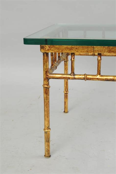 antique gold bamboo drum iron accent table with mirror top italian gold gilt iron and glass faux bamboo metal square