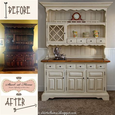 Redo Kitchen Cabinets Diy by Start At Home A Beautiful Hutch Makeover