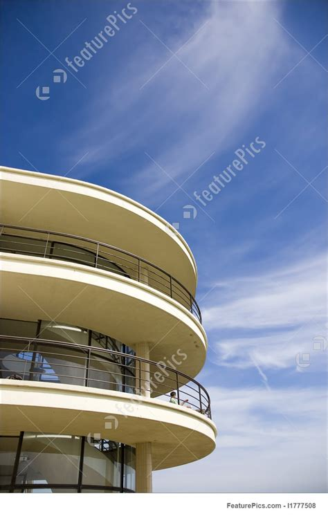 art deco balcony architectural details art deco balcony stock picture