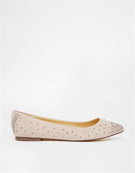 sparkle flat shoes oasis sparkle flat ballerina shoes in lyst