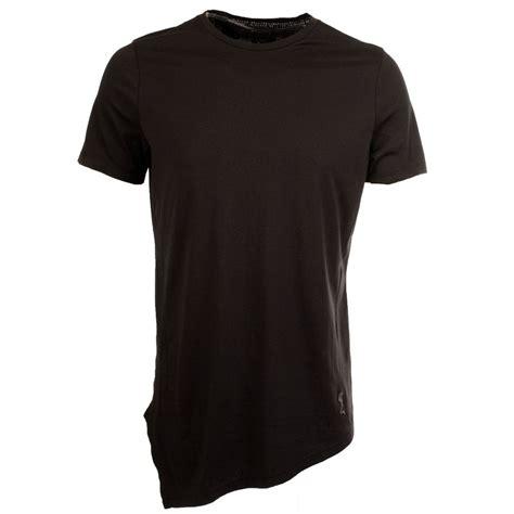 Kaos Longline T Shirt Basic Black 2 religion religion longline plain black t shirt from