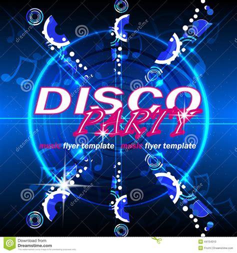 template flyer disco party disco party flyer template stock vector image 44154310