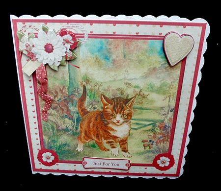 Decoupage Kits Sale - exploring kitten card mini kit decoupage cup718766