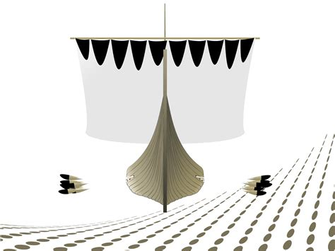 viking longship backgrounds beige black