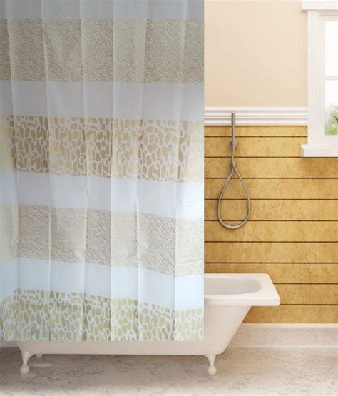 Beige And White Striped Curtains Tjar Stripes Shower Curtain Beige White Buy Tjar Stripes Shower Curtain Beige White