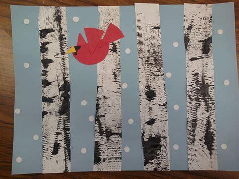 Birch Tree Paper For Crafts - artastic miss oetken s artists textured winter birch