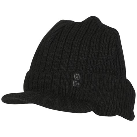 bench men s daryl peak beanie hat black clothing zavvi com