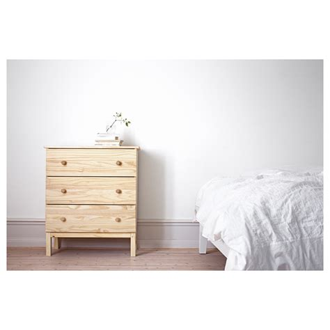 ikea natural wood chest of drawers tarva chest of 3 drawers pine 79x92 cm ikea
