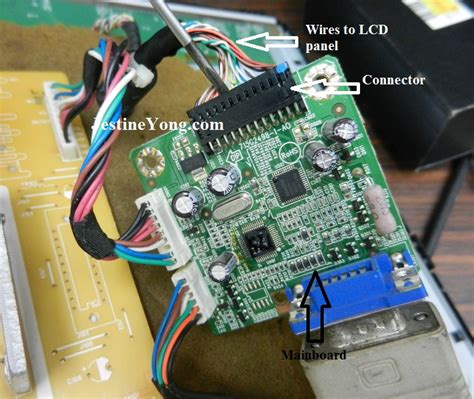Mainboard Monitor Crt Normal 19 quot philips lcd monitor repaired electronics repair and