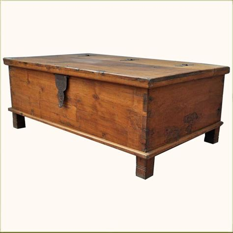Hinged Coffee Table Appalachian Rustic Teak Hinged Top Coffee Table Chest Traditional Coffee Tables